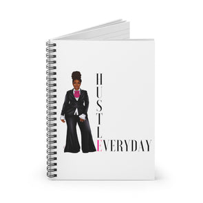 HUSTLE EVERYDAY BOSS Spiral Notebook - Ruled Line