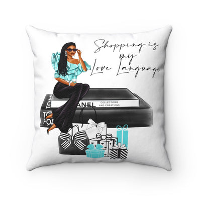 Shopping is My Love Language Square Pillow