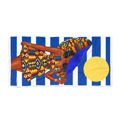 Kente Girl Beach Towel