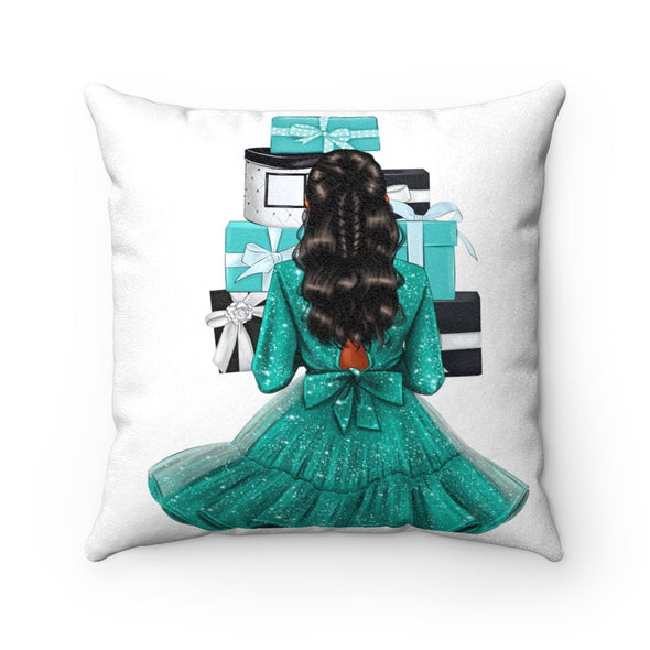 Tiffany Vibes Faux Suede Square Pillow