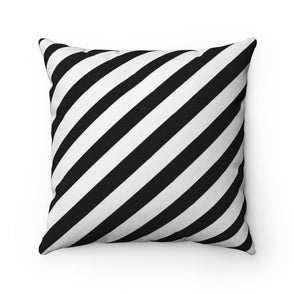 Ebony and White Square Pillow