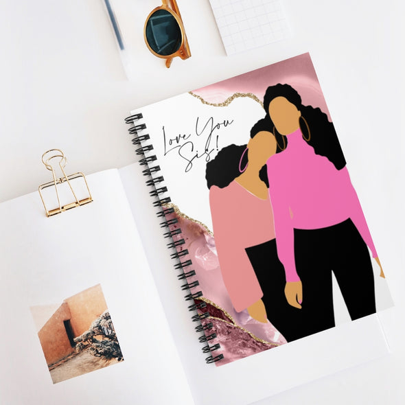 Love You Sis! Spiral Notebook - Ruled Line