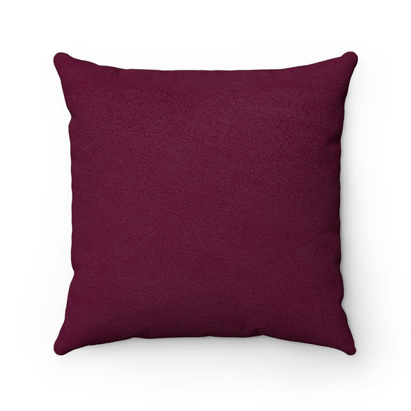 FALL Glory Faux Suede Square Pillow