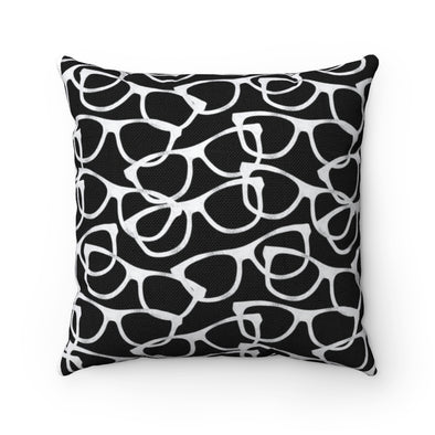 Smarty Pants on Black Background Square Pillow