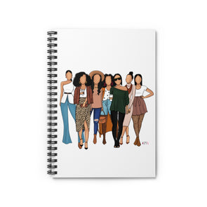 Hey Brown Girls Spiral Notebook - Ruled Line