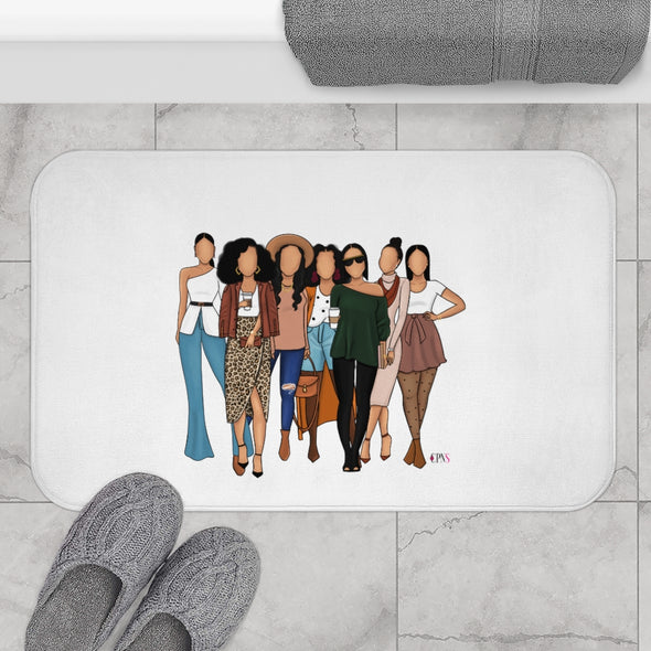 Hey Brown Girls Bath Mat