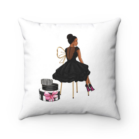 Sitting with Grace  Square Pillow