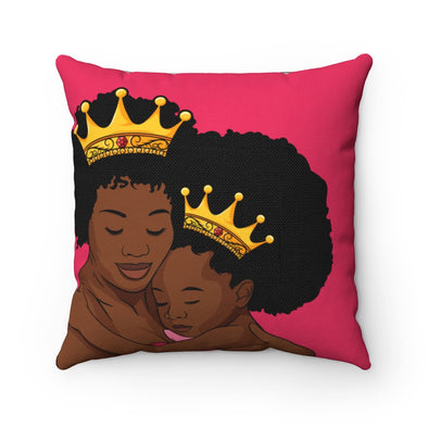 Royally Mommy & Me Square Pillow