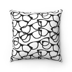 Smarty Pants on White Square Pillow