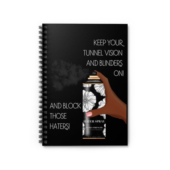Hater Spray Spiral Notebook - Ruled Line