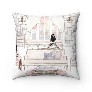 Room with a View Square Pillow Case