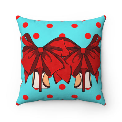 Retro Fashion Heels Square Pillow