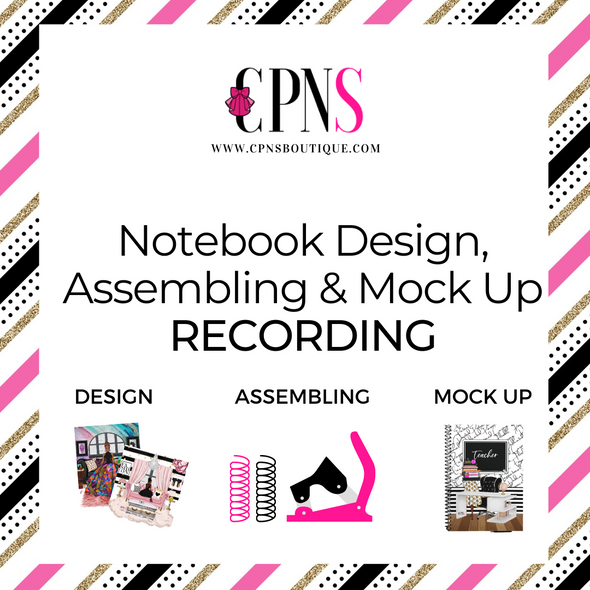 Notebook Design, Assembling & Mockup RECORDING