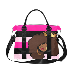 Pink Queen Large Capacity Duffle Bag