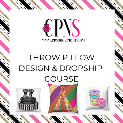 Throw Pillows & Dropshipping Course RECORDING