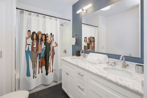 Hey Brown Girls Shower Curtain