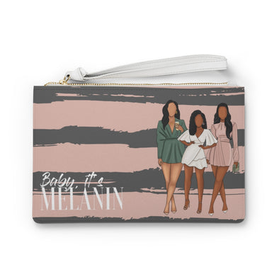 Baby, It's Melanin Clutch Bag