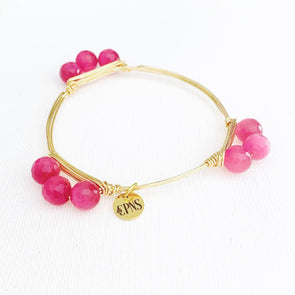 Pink Cats Eye Bangle