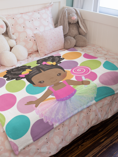 Lolli - Girl Throw Blanket