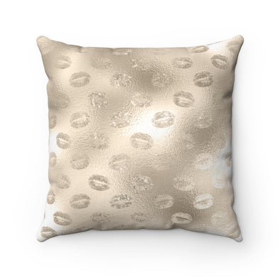 Champagne Lips Square Pillow