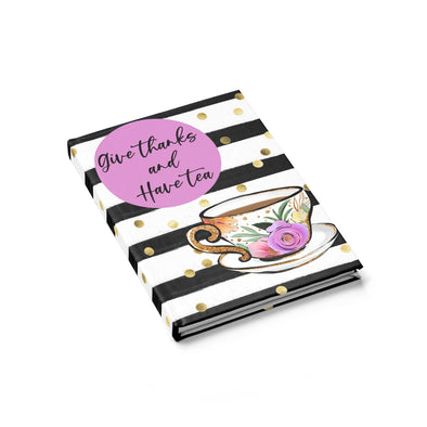 Give Thanks and Have Tea Ruled Line Journal