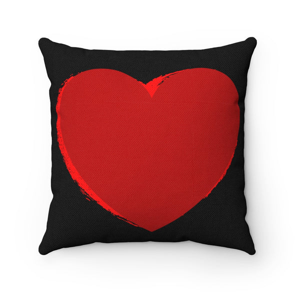 Red Heart Square Pillow