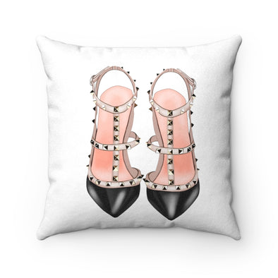 Studded Shoes Square Pillow