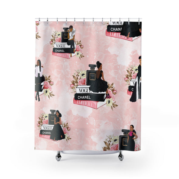 CPNS Sisters Sit Chic Shower Curtains
