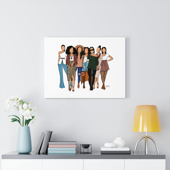 Hey Brown Girls Canvas Gallery Wraps