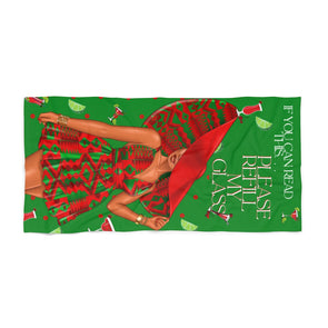 Drink Refill Beach Towel