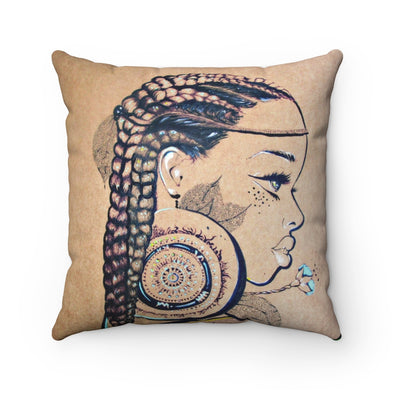 Native Girl Square Pillow