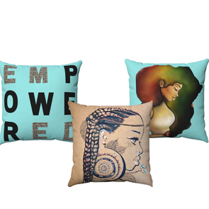 EMPOWERED set of 3 Square Pillow