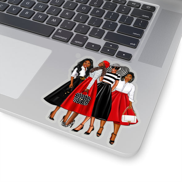 My Girlfriends (Red and Black) Stickers