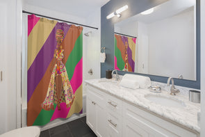 Ankara Girl Shower Curtain
