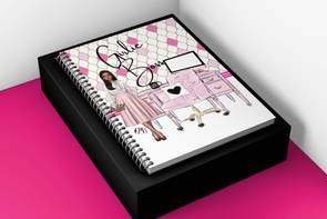 Girlie Office Lined Notebook