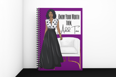 SALE NOTEBOOK - KNOW YOUR WORTH PURPLE