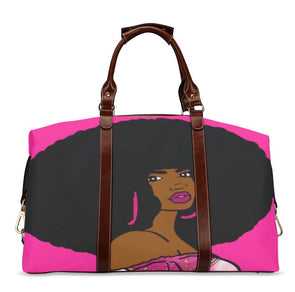Pink Afro Diva Classic Duffle bage