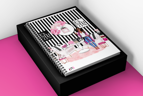 Preppy Fashion Girl Notebook