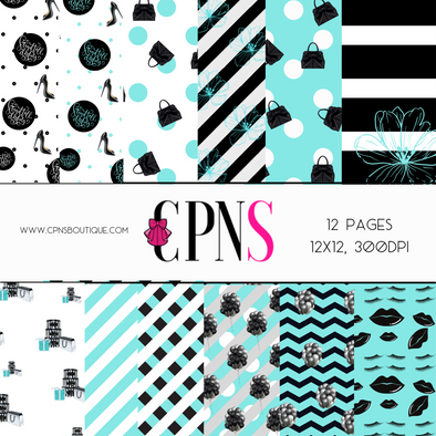 TIFFANY CHIC DIGITAL PAPER