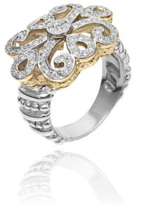 Ornate Fleur De Lys Designed Ring by Vahan