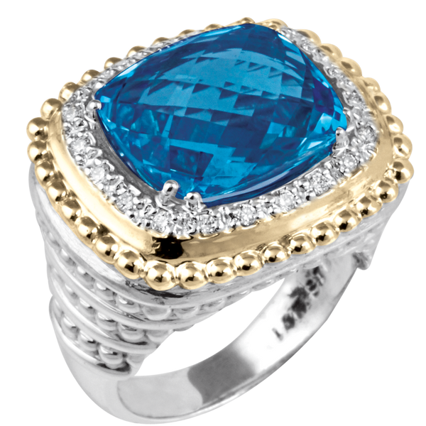 London Blue Topaz Diamond Ring by Vahan