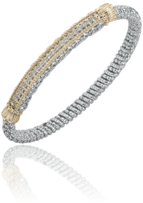 High Styled Bright and Sleek Diamond Bar Bracelet by Vahan