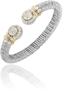Elegant Sophistication describs this Sparkling Diamond Cuff Bracelet by Vahan