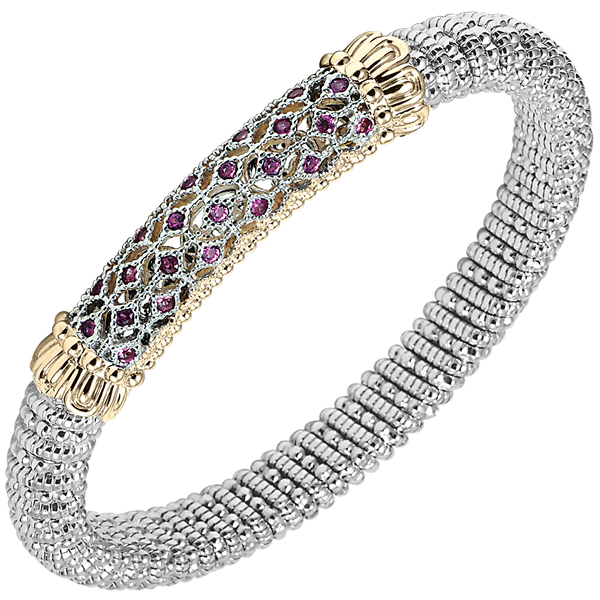 Vivid Pink Sapphires sparkling through Beautiful Latticework designed by Vahan
