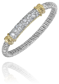 Multi-Row Pave Bangle by Vahan