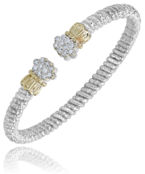 """Diamond Bubbles Cuff"" by Vahan"