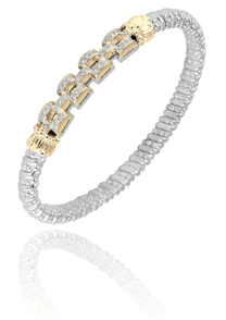 Unique Link Bracelet in Sterling Silver and 14k Yellow Gold by Vahan