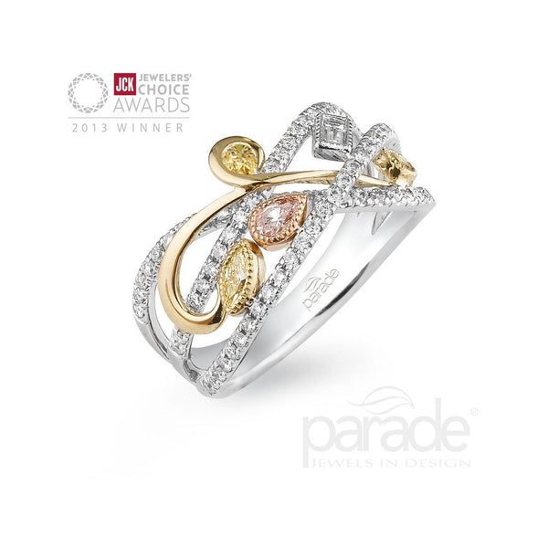 Beautiful Fancy and White Diamond Band by Parade