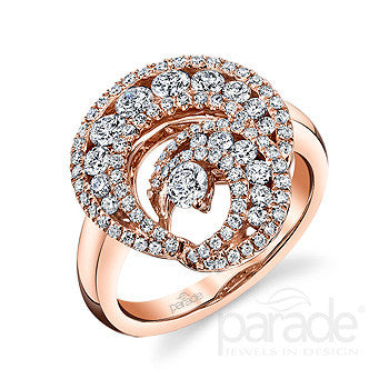 Modern Bypass Rose Gold and Diamond Ring by Parade