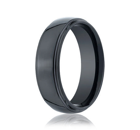 Mens Black Seranite 6mm Band by Benchmark